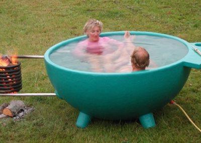 Стеклопластиковый собрный бассейн с подогревом